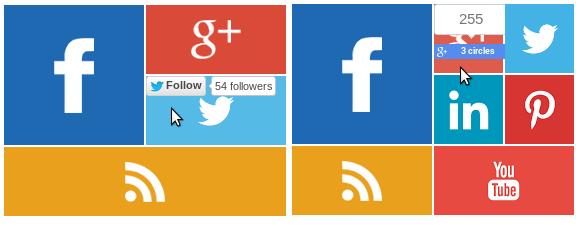 ابزارک شبکه های اجتماعی به سبک مترو