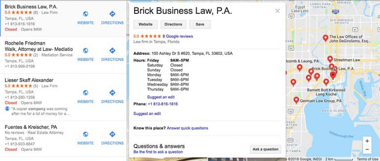 Tampa Corporate Lawyers 768x326 - رعایت ۱۳ نکته کلیدی در طراحی یک وبسایت وکالت