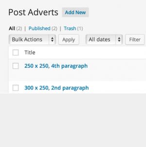 قراردادن تبلیغات در بین نوشتههای وردپرس