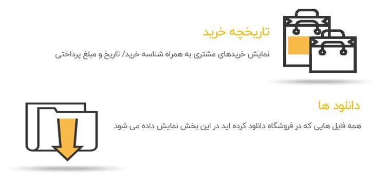 wp qaleb 2 - داشبورد مشتری EDD